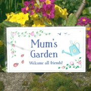 Mum's Garden Decorative Plaque
