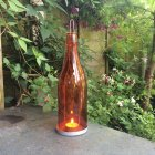 Orange Bottle Tea Light Holder