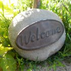 Ornamental Welcome Stone for the Garden