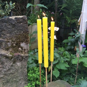 Citronella garden candles