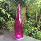 Pink Bottle Tea Light Holder