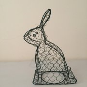 Plastic Coated Rabbit Shaped Topiary Frame