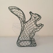 Plastic Coated Squirrel Shaped Topiary Frame
