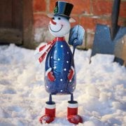 Polka Frosty Metal Ornament