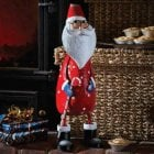 Polka Santa Metal Ornament