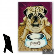 Pug Design Ceramic Wall Plaque