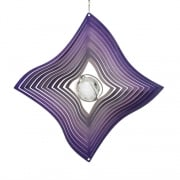 Purple Diamond Crystal Wind Spinner