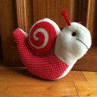 Red & Beige Snail Doorstop
