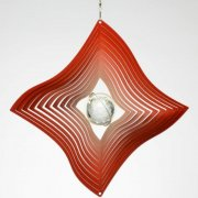 Red Diamond Crystal Wind Spinner