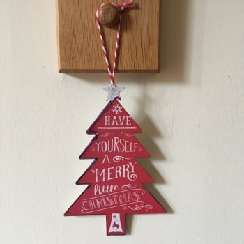 Red Metal Christmas Tree Decoration