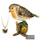Robin Ornament with Hidden Pendant