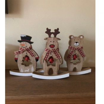 Rocking Wooden Christmas Ornaments