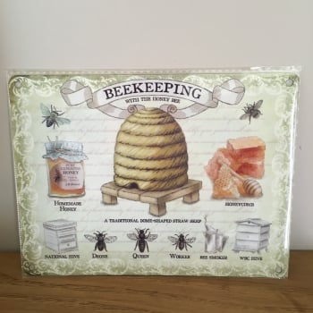 Small Beekeeping Metal Wall Sign