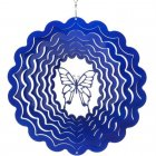 Small Blue Butterfly Wind Spinner