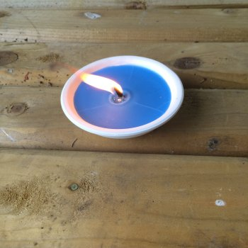 Small Candle Bowl Blue