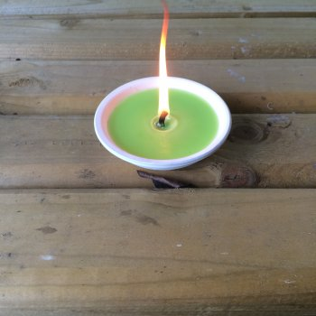 Small Candle Bowl Green