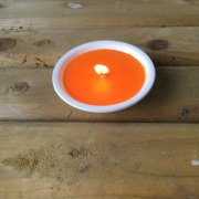 Small Candle Bowl Orange