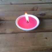 Small Candle Bowl Pink