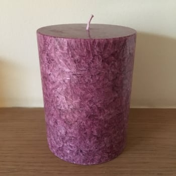 Small Frosted Pillar Candle