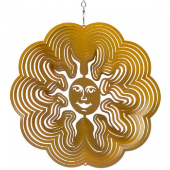 Small Gold Sun Wind Spinner