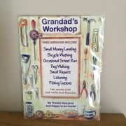 Small Grandad's Workshop Metal Sign