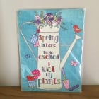 """Small """"I Wet My Plants""""  Metal Wall Sign"""