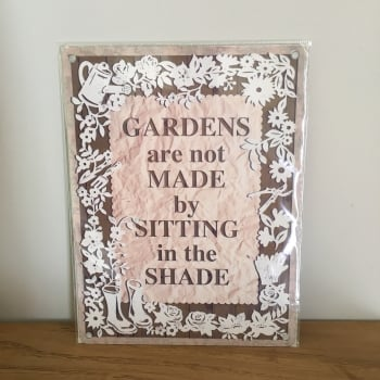 Small Metal Garden Wall Sign