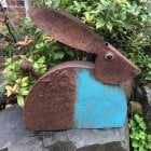Small Metal Hare Garden Ornament