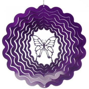 Small Purple Butterfly Wind Spinner