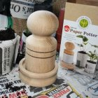 Small Wooden Paper Potter