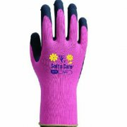 Soft n Care Flora Pink Gloves - Medium