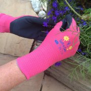 Soft n Care Flora Pink Gloves - Small