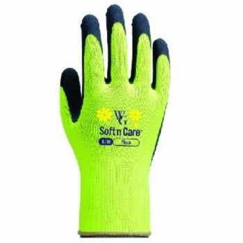 Soft n Care Flora Yellow Gloves - Medium