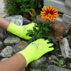 Soft n Care Flora Yellow Gloves - Small