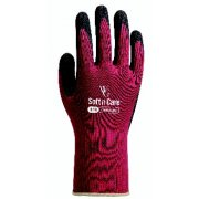 Soft n Care Landscape Burgundy Gloves - Medium