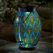 Solar Powered Peacock Lantern