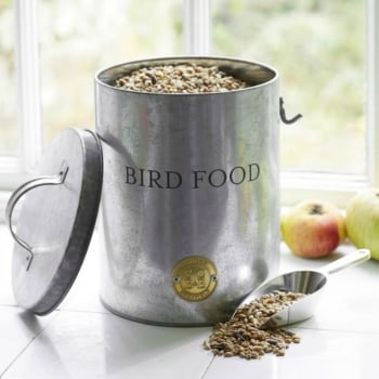 Sophie Conran Galvanised Bird Food Tin
