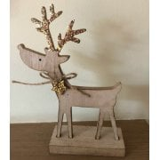 Sparkly Wooden Reindeer Ornament