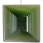 Square Green Wind Spinner