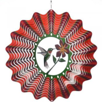 Stainless Steel Hummingbird Wind Spinner