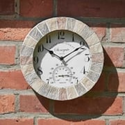 "Stonegate 10"" Clock & Thermometer"