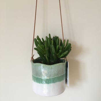 Stoneware Hanging Indoor Plant Pot