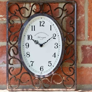 Stylish Harrogate Outdoor Wall Clock