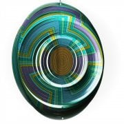 "Swirl Multi Mandala 12"" Wind Spinner"