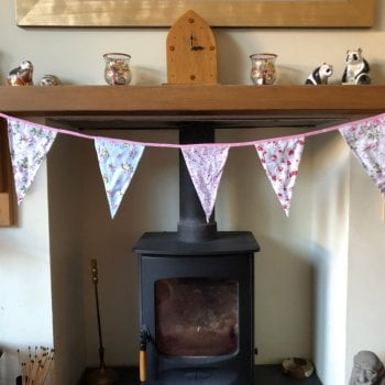 Vintage Style Floral Bunting Garland