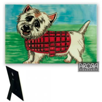 Westie Design Ceramic Wall Plaque
