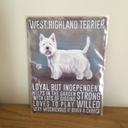 Westie Metal Wall Sign