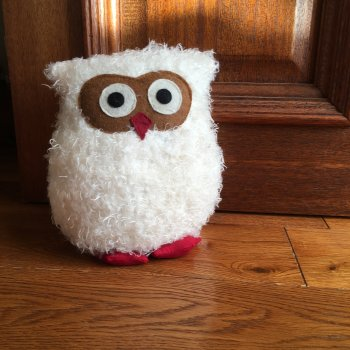 White Owl Doorstop