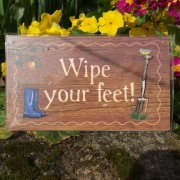 Wipe Your Feet Plaque