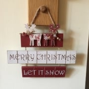Wooden Let It Snow Christmas Decoration